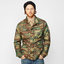 Polo Ralph Lauren Denim And Supply Camo Motorcycle Jacket