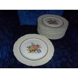 Jgo De 10 Platos Playos Porcelana Limoges.microcentro-avella