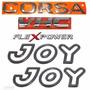 Emblemas Corsa Hatch Vhc Flexpower + Joy Preto - 2003 À 2007