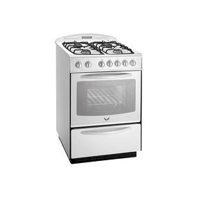 Cocina Domec 60 Cm Multigas Luz Y Encendido Pirómetro Blanca