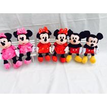 Pelucia Minnie Vermelho Ou Rosa Ou Mickey Musical 28cm - Und