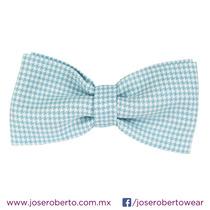 Moño/pajarita/bowtie En Tergal Catalán Color Azul Claro