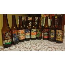 Set De 9 Botellas Edit. Barrios Cerveza Indio