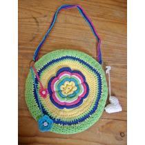 Cartera Tejida Al Crochet Para Nena- Artesanal