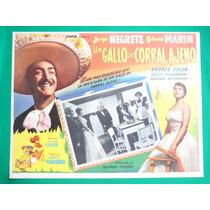 Jorge Negrete Un Gallo En Corral Ajeno Gloria Marin Cartel