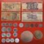 40 Moedas Brasileiras Antigas E Raras + Dinheiro Estrangeiro