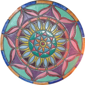 Mandala Realizado En Falso Mosaico 27 Cm $600. Otras Medidas