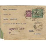 17103 Brasil Envelope Aéreo Registrado Deo Ce P/ Recife Pe
