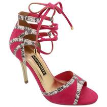 Sandália Salto Feminina Via Marte Nabuck Pink