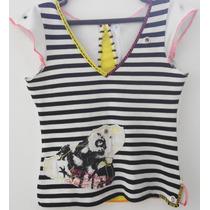 Linda E Fashion Blusa Original Carmim C/ Stretch - Tam M/g