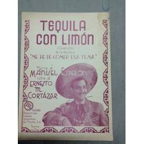 Partitura Antigua Tequila Con Limón