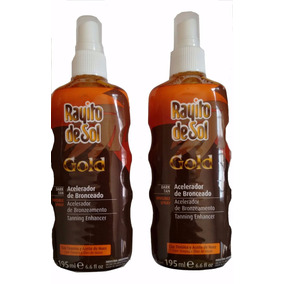 Kit Rayito De Sol Acelerador De Bronzeado Gold Spray - 195ml