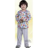 Kit 2 Pijama Infantil Menino Inverno Longo Malha Pv