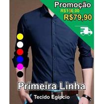 Camisa Social Masculina Manga Longa Slim Roupa Loja Blusa