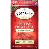 Twinings Té Descafeinado Negro, Inglés Desayuno, 20 Contado