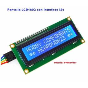 Pantalla Lcd1602 Hd44780 16x2, Con Interface I2c, Fondo Azul