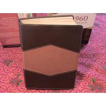 Biblia De Estudio Rvr60 Holman Piel Terracota/chocolate