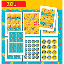 Kit Cebrita Zou! Para Imprimir - Texto Editable!!