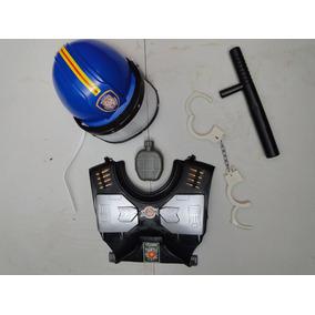 Kit Policial Colete Cacetete Capacete C/ Viseira Tatico