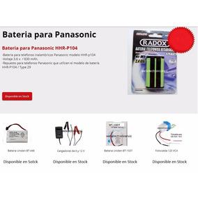 Bateria Telefonica 3.6 V 830 Mah Hhr-p104 / Pila Hhr-p104