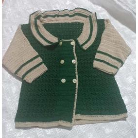 Abrigo O Sweater Para Bebe Tejido A Crochet. Tejido A Mano