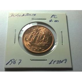 Moeda Inglaterra Fc Half Penny 1967 1968 - Lt 2019