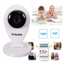 Mini Câmara Ip Sricam 720p Hd Wifi/suporte P Micro Sd 128gb