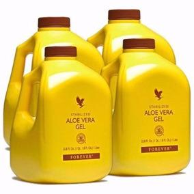 Kit 4 Suco Aloe Vera Gel Natural Forever Living