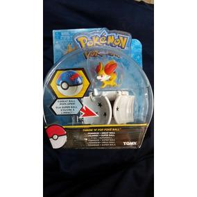Fennekin Pokebola Tomy Lanza Y Atrapa Original Pokemon