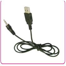 Cable Con Entrada Usb Y Salida 3.5 Mm 1 Mt Nuevo