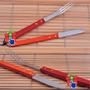 Set De Asado 2 Utensilios Largos Cuchillo Tenedor Asador