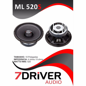 Alto Falante 7drive Audio 10p Ml 520rms 4 Omos Lamçamento