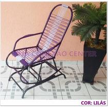 Cadeira Balanço Com Mola Base Fixa Varanda Fitilho Colorido