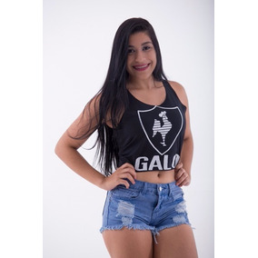 Cropped Blusa Camiseta - Atletico Mineiro-galo - Mammuth