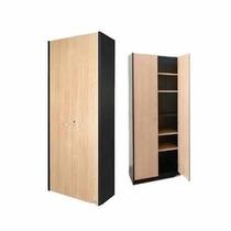 Biblioteca Puertas Altas 429 Platinum Con Cerradura Estantes