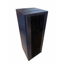 Rack De Piso 32u 600 Porta De Vidro Desmontável