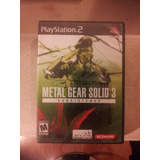 Metal Gear Solid 3: Subsistence Play Station 2 Ps2 Ps3