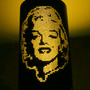 Luminária De Cano Pvc,lustre, Abajur Marilyn Monroe, Pop