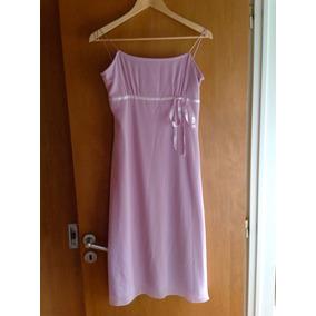 Vestido De Fiesta H&m Rosa Con Breteles Talle Us 12 Eur 42