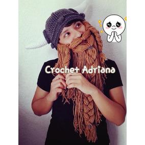 Gorro Vikingo Con Barba Tejido Crochet