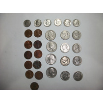 Monedas De Dolar - One Dime Y De 1 - 5 Y 25 Ctv. Total 29