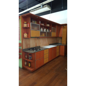 Mueble De Cocina En Melamina Combinado Con Mesada Incluida