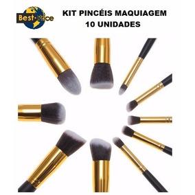 Kit Pincel Pincéis 10 Peças Kabuki Maquiagem Similar Sigma!