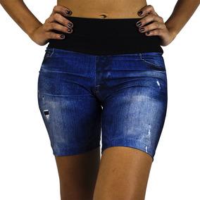 Bermuda Live Feminina Jeans Personalizada Fitness - M