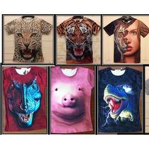 Camiseta Blusa Playera 3d Perro Gato Talla S M L Unisex E4f