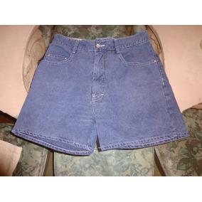 Bermuda Shorts Jeans Carmin Nova C/ Botão 2 Bolsos E Zipper
