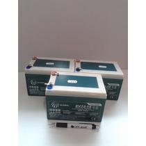 Kit 3 Bateria Ev12-15 6-dzm-14 12v 14ah 20hr Skate Elétrico