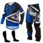Kit Calça Camisa Infantil Insane 4 Azul Motocross Pro Tork