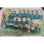 Antigua Lámina Central Mundo Dep Selección Italia 1956