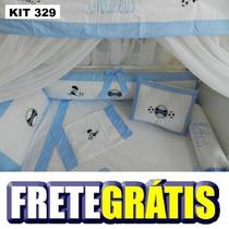 Kit Berço Personalizados 10 Pçs Times Grêmio Futebol